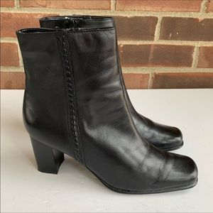 St. John's Bay black leather ankle boots